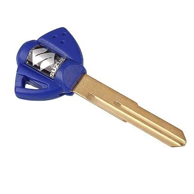 Energy power shop Motorcycle Blank Key Uncut Blade Suzuki GSXR 600 750 1000 GSX1300R GSF 650 Blue: Automotive