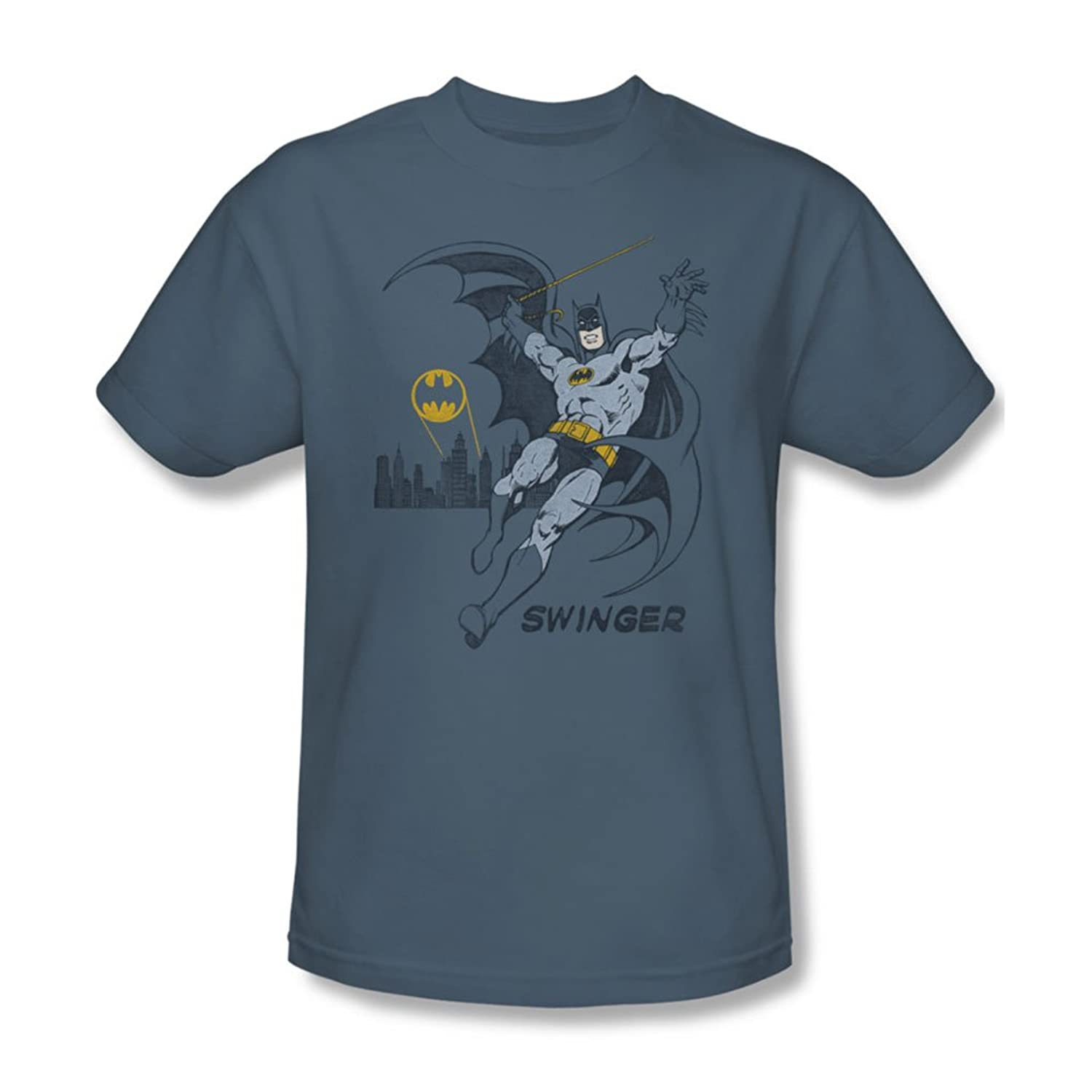 Dc Comics - Mens Swinging T-Shirt In Slate