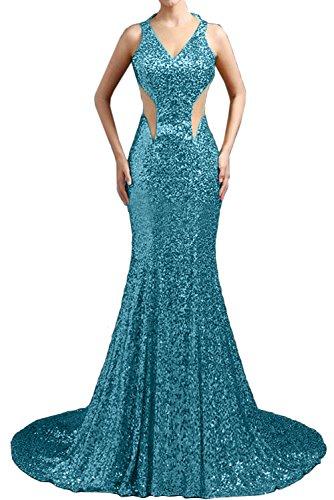 Lang Traeger Ballkleider Paillette Damen Neu Meerjungfrau Sexy Blau Ivydressing 1 Promkleider Abendkleider w0UqXCa