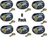 Master Lock 90KADSPT-P413 Keyed Alike Gun Trigger Locks - Quantity 8
