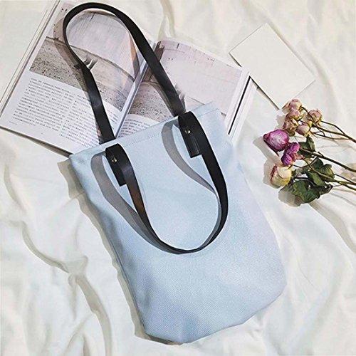Filles Mode Esailq Fourre Sac Cuir Femmes À Épaule De Main Bleu tout Shopping EqffTZw