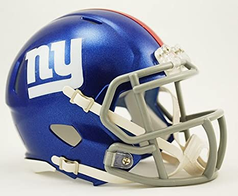 Amazon.com  New York NY Giants Riddell Speed Mini Football Helmet - New in  Riddell Box  Sports Collectibles caf8ba692