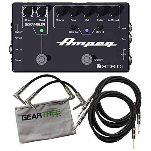 Ampeg SCR-DI Bass DI Pedal (w/Scrambler Overdrive) w/ 4 Cables and Cloth