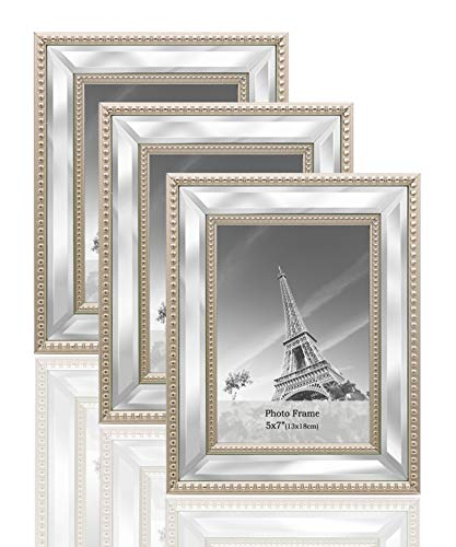 irror Photo Frames Sets for Wall Pictures Decor or Table Stand ()