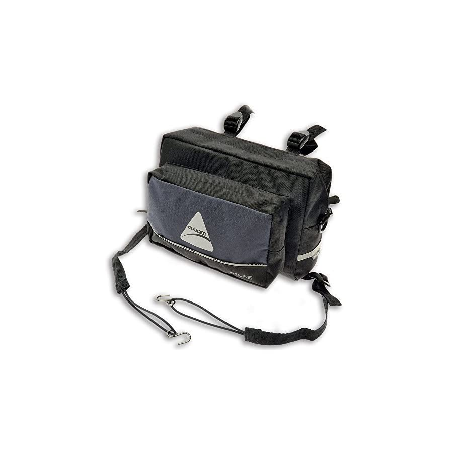 Axiom Atlas 4.5 Handlebar Bag, Grey/Black