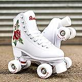 Rookie Women Rollerskate Rosa, White (weiß), 7 UK