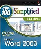 Word 2003, MaranGraphics Development Group and Jinjer Simon, 0764541315