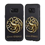 Official HBO Game Of Thrones Sigils - Targaryen Gold Various Designs Black Sentry Case for Samsung Galaxy S8+ / S8 Plus