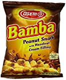 Bamba Hazelnut Cream Peanut Butter Snacks All Natural Peanut Butter PB Corn Puffs, 2.1oz Bag (Pack of 10)