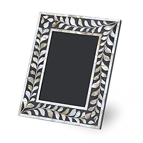 black mother of pearl photo frame handmade inlay furniture - Mother Of Pearl Picture Frame