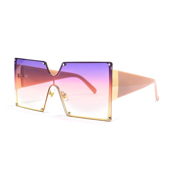 Oversize Futuristic Flat Sunglasses
