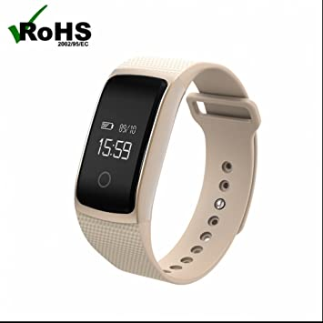 Reloj Intelligent Bluetooth Relojes de pulsera de deporte medición de la presión arterial Monitor de Pulso