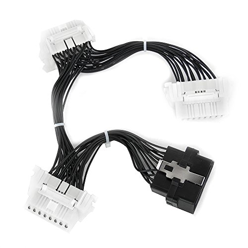 OBD 2 16 Pin Y Splitter Extension 1 to 3 Diagnostic Electronic Cable