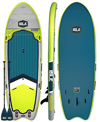 ISLE Surf & SUP Megalodon | 15' Inflatable Stand Up Paddle Board | 8