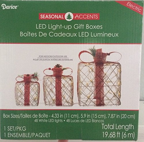 Led Lighted Christmas Gift Boxes