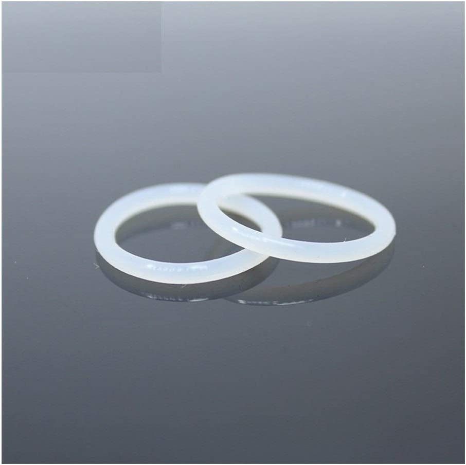 Size : OD54x2.4mm Red YINGJUN CS2.4mm Silicone O Ring OD 52 53 54 55 56 57 58 59 60x2.4mm O-Ring VMQ Gasket Seal Thickness 50PCS ORing White Red Rubber Ring Gasket