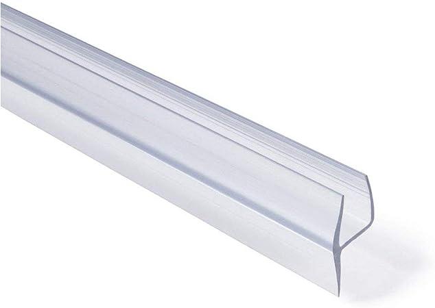 Shower Glass Door Seal Frameless Shower Door Bottom Seal Shower Door Sweep Rubber Plastic Shower Screen Seal Strip For 6mm//8mm//10mm//12mm Thickness Curved//Flat Glass Bath Door 100mm Length