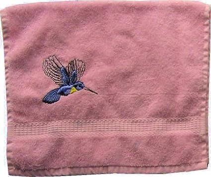 Toalla de mano de rizo con bordado Colibrí