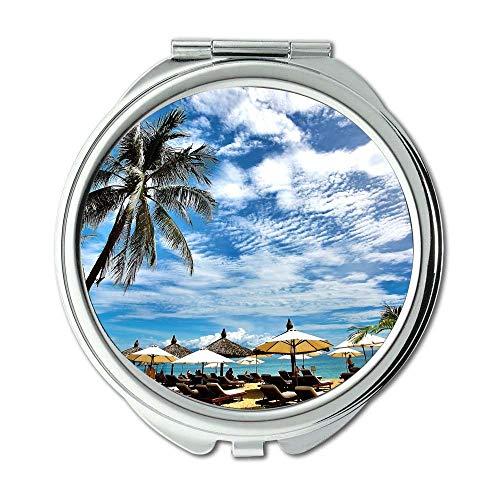 Mirror,makeup mirror,beach beach chairs boat,Pocket Mirror,portable -
