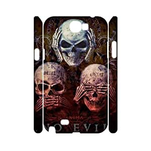 AKERCY Skull Arts Phone 3D Case For Samsung Galaxy Note 2 N7100 [Pattern-4]