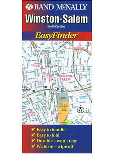 Winston Salem North Carolina Map (Winston-Salem (North Carolina) (USA EasyFinder Laminated Folded Maps))