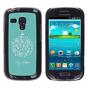 Be Good Phone Accessory // Dura Cáscara cubierta Protectora Caso Carcasa Funda de Protección para Samsung Galaxy S3 MINI NOT REGULAR! I8190 I8190N // Merry Christmas Holidays Winter