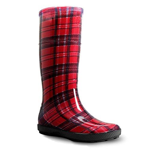 Demar hawai rain boots boots Karo Rot lady Red rubber wqF6prw