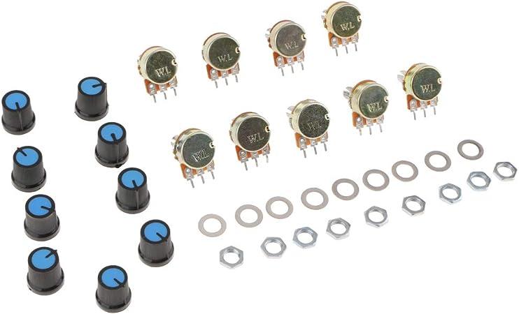 B10K-20PCS avec /écrous et rondelles RUNCCI potentiom/ètre lin/éaire 10k