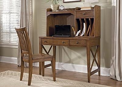 "Liberty Furniture 382-HO140 Hearthstone Home Office Writing Desk Hutch, 44"" x 12"" x 24"", Rustic Oak"