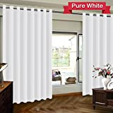 Turquoize Room Divider Grommet Top Curtain panel, Patio Door curtain, Pure White, 8.3ft Wide x 7ft Tall (100inch W x 84inch L), sold by panel Review