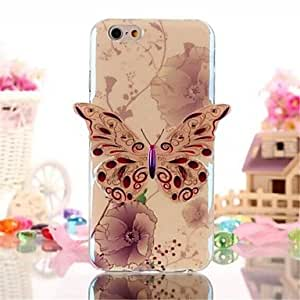 WQQ Blue Butterfly Pattern TPU Soft Cover for iPhone 6