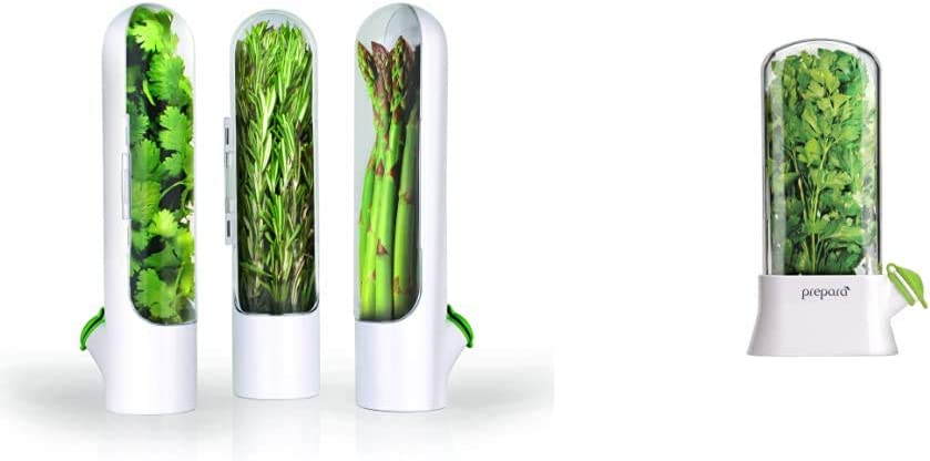Prepara Herb Savor Pod 2.0, Set of 3 & Eco Herb Savor Pod, , Green, 6.2 x 2.9 x 10.7 inches