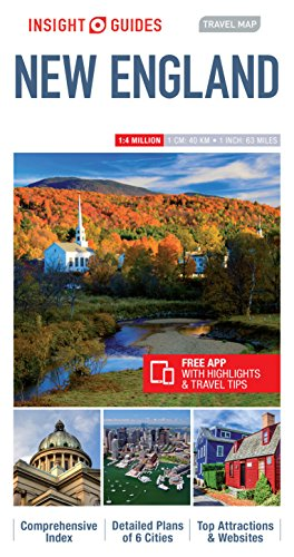 Insight Guides Travel Map New England (Insight Travel Maps)