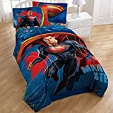 Superman Man of Steel 4 Piece Twin Bedding Collection