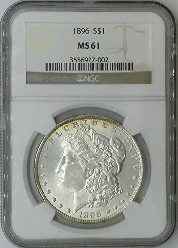 1896 P Morgan $1 MS61 NGC Silver Dollar Old US Coin 90% Silver