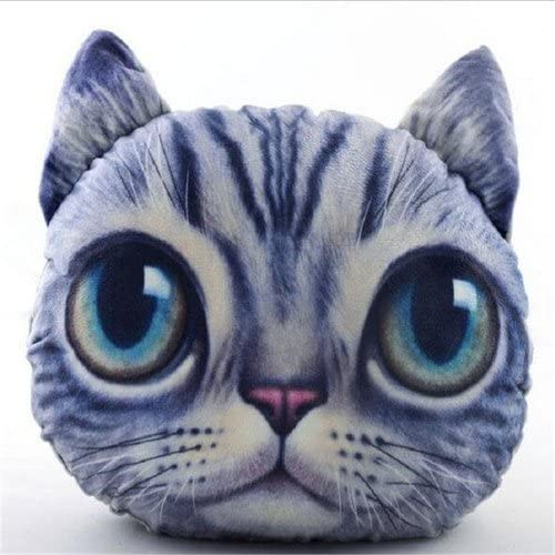 Kondrao Cute 3D Cat Head Shape Pillow