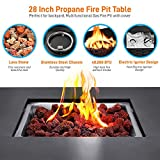 Outdoor Propane Fire Pit Table - CSA Approved Safe