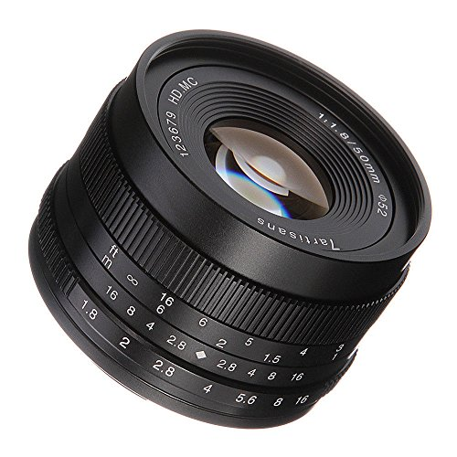 (7artisans 50mm/F1.8 APS-C Manual Fixed Lens Compatible with/Replacement for Sony A6500 A6300 A6000 A5100 A5000 NEX-3 NEX-3N NEX-5 NEX-5A A7 A7II A7R VG10 VG20 VG30 EA50)