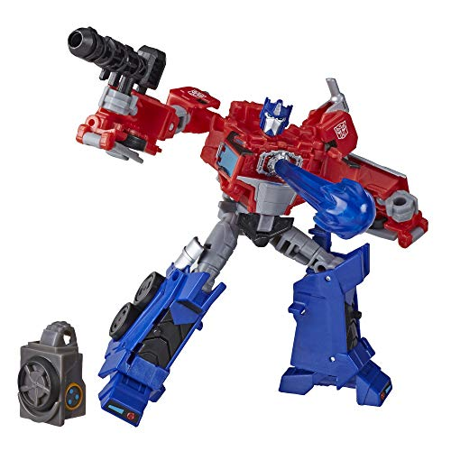 Transformers Toys Cyberverse Deluxe Class Optimus Prime Action Figure, Matrix Mega Shot Attack Move and Build-A-Figure Piece, for Kids Ages 6 and Up, 5-inch