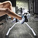 Portable Exercise Bike Pedals Stable Mini Floor Foot Pedal, Adjustable Fitness Medical Pedal Exerciser Chrome Frame (US Stock)