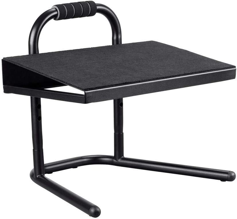 Monoprice Height Adjustable Standing Foot Rest – Black Steel Stool, Ideal for Work, Desk, Home and Office – Workstream Collection