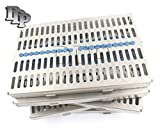 DDP GERMAN GRADE STEEL SET OF 5 EACH DENTAL AUTOCLAVE STERILIZATION CASSETTE RACK BOX TRAY FOR 20 INSTRUMENT