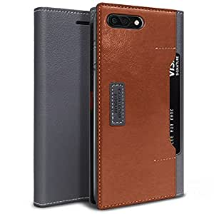 IPhone 8 Plus/IPhone 7 Plus Obliq K3 Leather Wallet Case Cover - Brown Burgundy