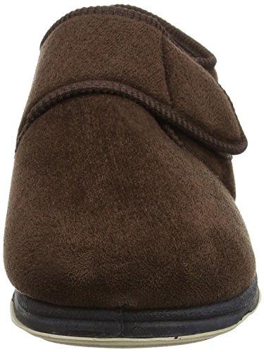 Padders Charles, Herren Flache Hausschuhe Brown Wool Mix/Suede