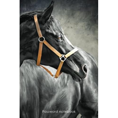 Password Notebook Small Internet Address And Password Logbook Journal Diary Black Horse Cover Horse Lovers