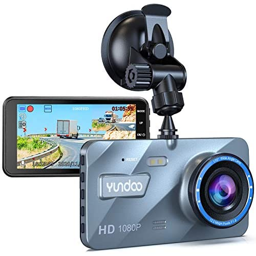 chollos oferta descuentos barato Dashcam Delantera y Trasera Dashcam Car Camera 1080P FHD 4 Pantalla IPS con Tarjeta SD de 32GB Gran Angular 170 Sensor G Grabación en Bucle