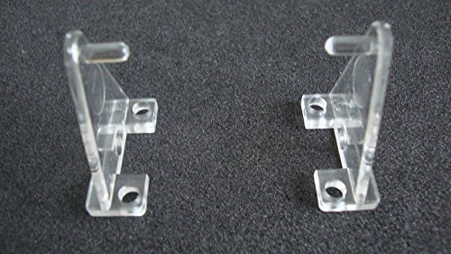 - Hold Down Plastic Bracket For 2 1/2 inch Horizontal Blind- Pack of 10 - Clear