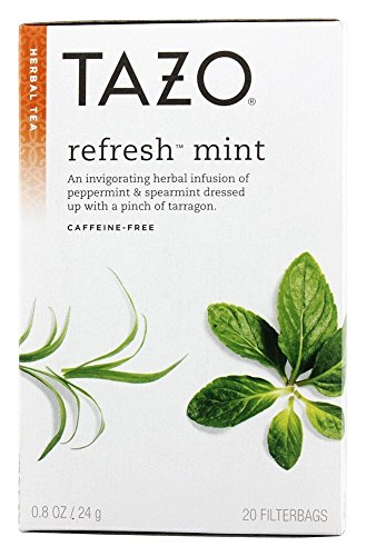 Tazo All Natural Herbal Infusion Tea, Refresh Mint, 2 Count
