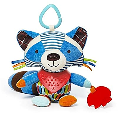 Skip Hop Bandana Buddies Baby Activity and Teething Toy with Multi-Sensory Rattle and Textures, Raccoon : Baby