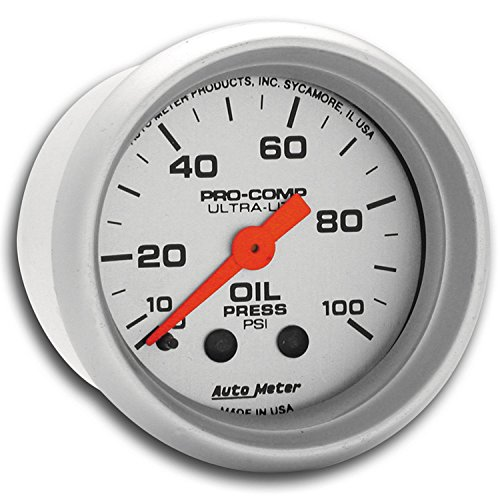 Autometer 4368 Ultra Lite Electric Water Pressure Gauge: Autometer 4321 Engine Oil Pressure Gauge